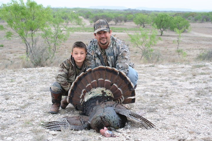 Father and Son hunters at El Rancho Arenosa in South Texas